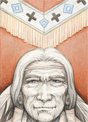 Artist Trading Cards Drawing - Weathered Wisdom by Amy S Turner