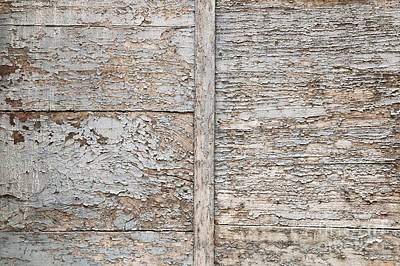 Weathered Wood Background Print by Elena Elisseeva