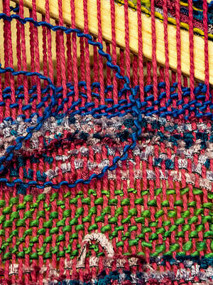 Warp-weft Photograph - Weaving by Jean Noren