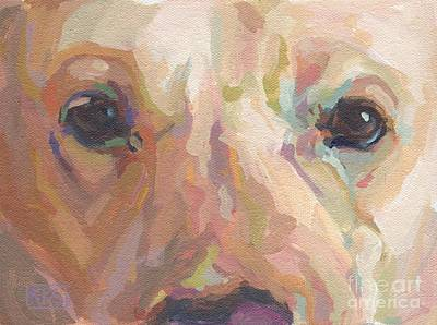 Yellow Lab Painting - Webster by Kimberly Santini