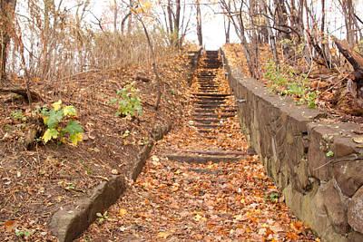 Webster Ny Photograph - Webster Park Steps by Gerald Salamone