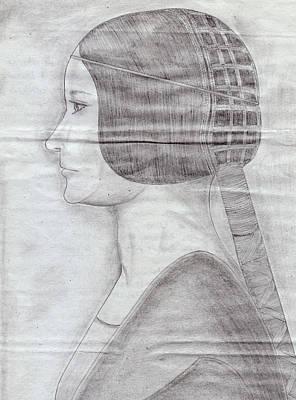 Sketch Drawing - Wedding Bride by Jose Valeriano