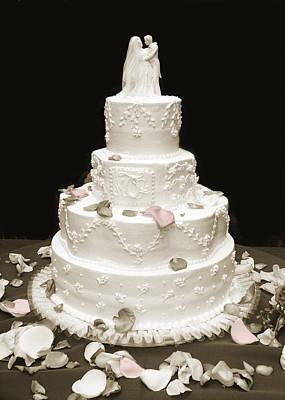 Wedding Cake Petals Print by Marilyn Hunt