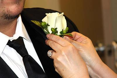 Photograph - Wedding Corsage Groom by Gravityx9 Designs