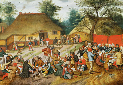 Wedding Feast Print by Pieter the Younger Brueghel
