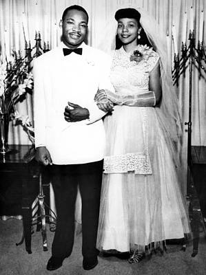 African-american Photograph - Wedding Of Martin Luther King And Coretta Scott by American School