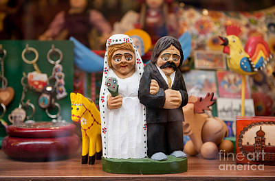 Toy Shop Photograph - Wedding Old Newlyweds Souvenir by Arletta Cwalina