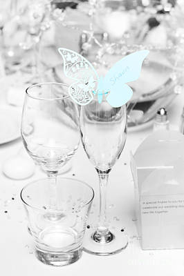 Wine Service Photograph - Wedding Table Decoration At Reception by Jorgo Photography - Wall Art Gallery