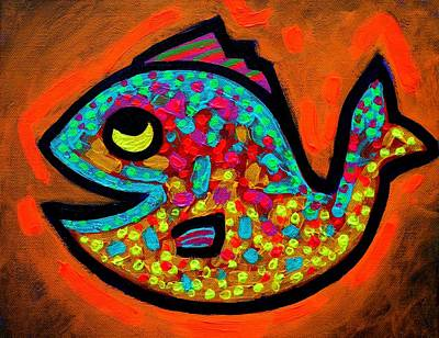 Tropical Fish Painting - Weekend Fish  by John  Nolan