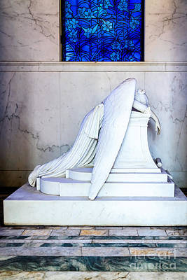 Metairie Cemetery Photograph - Weeping Angel, New Orleans 1 by Mary  Smyth