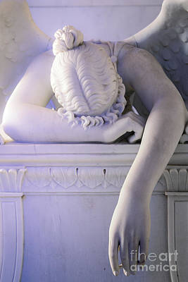 Metairie Cemetery Photograph - Weeping Angel, New Orleans 2 by Mary  Smyth