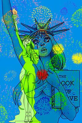 4th July Digital Art - Weeping Liberty by Lynn Rider