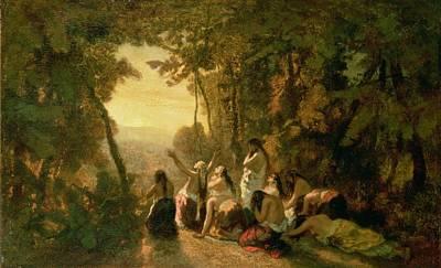Israeli Painting - Weeping Of The Daughter Of Jephthah by Narcisse Virgile Diaz de la Pena