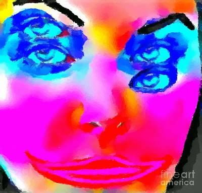 Lips Painting - Weird 3 by Chris Butler