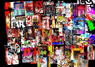 Abstract Collage Photograph - Welcome To Barcelona Graffiti Nirvana by Funkpix Photo Hunter