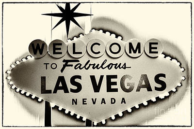 Leda Photograph - Welcome To Fabulous Las Vegas Nevada by Leslie Leda