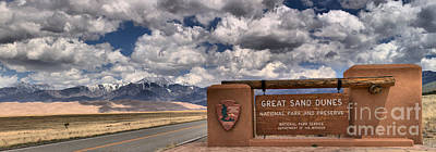 Welcome To Great San Dunes Print by Adam Jewell