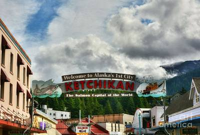 Welcome To Ketchikan Print by Mel Steinhauer