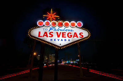Sin Photograph - Welcome To Las Vegas by Steve Gadomski