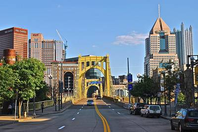 Welcome To Pittsburgh Pa Print by Frozen in Time Fine Art Photography