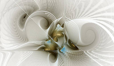 Abstraction Digital Art - Welcome To The Second Floor-fractal Art by Karin Kuhlmann