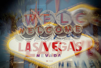 Abstract Photograph - Welcome To Vegas Vi by Ricky Barnard