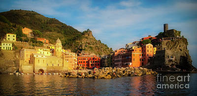 Welcome To Vernazza Print by Doug Sturgess