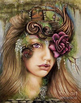 Mushroom Mixed Media - Welcome To Wisteria  by Sheena Pike