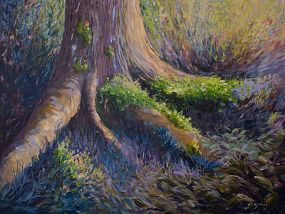 Tree Roots Painting - Well Grounded by Joanne Smoley