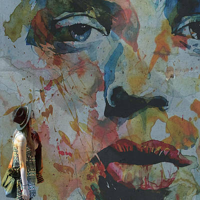 Mick Jagger Painting - Well Love Me Love Me Don't Fade Away  by Paul Lovering