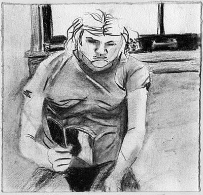 Brad Wilson Drawing - Well Read by Brad Wilson