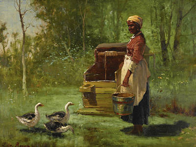 Edward Moran Painting - Wells And Ducks by Edward Moran