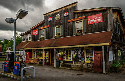 Vermont Country Store Photograph - Wells Corner Market by Alan Brown