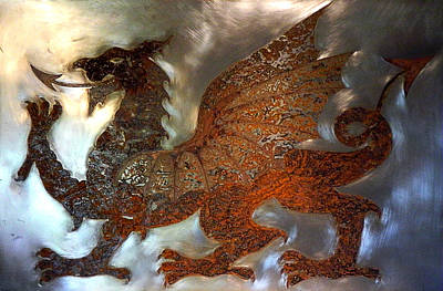 Wales Mixed Media - Welsh Dragon by Margaret Hastings