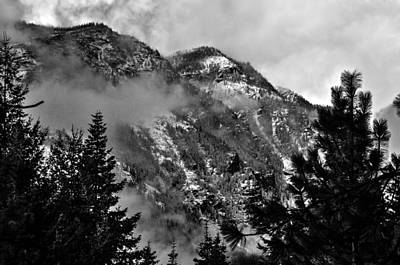 Wenatchee National Forest Black And White 2 Print by Pelo Blanco Photo