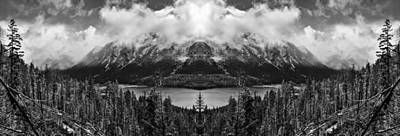 Wenatchee National Forest Black And White Reflection Print by Pelo Blanco Photo