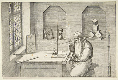 Jost Amman Drawing - Wenzel Jamnitzer by Jost Amman