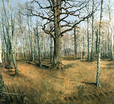 Ferdinand Von Rayski Painting - Wermsdorf Forest by Ferdinand von Rayski