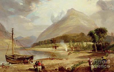 Bonfire Painting - West Coast Of Scotland by English School