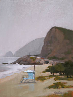 Malibu Painting - West Coast by Todd Baxter