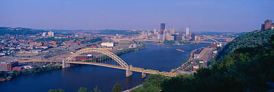 Allegheny County Photograph - West End Bridge At The Three Rivers by Panoramic Images