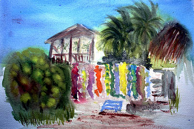 Plein Air Painting - West End Market by Donna Walsh