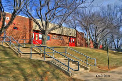 West Friendship Elementary School Print by Stephen Younts