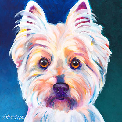 Westie Painting - West Highland White Terrier - Rockette by Alicia VanNoy Call