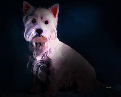 Westie Digital Art - West Highland White Terrier by Scott Wallace