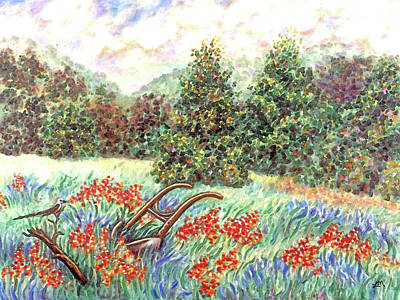 Forest Painting - West Hills Three by Linda Mears