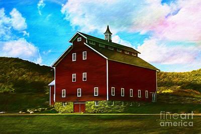 Cupola Painting - West Monitor Barn Vermont by Deborah Benoit