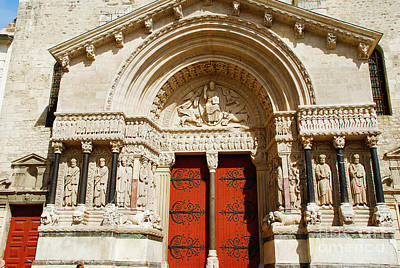 Roman Photograph - West Portal Church Of St. Trophime - Arles France by Just Eclectic