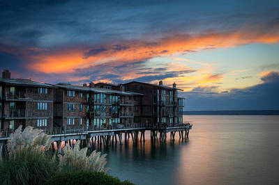 Sunset Photograph - West Seattle Living by Dan Mihai