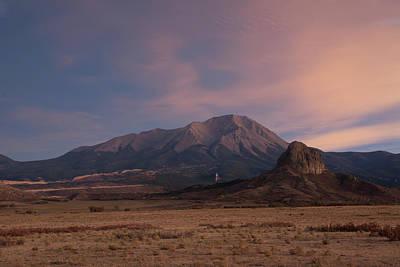 West Spanish Peak Sunset Print by Aaron Spong